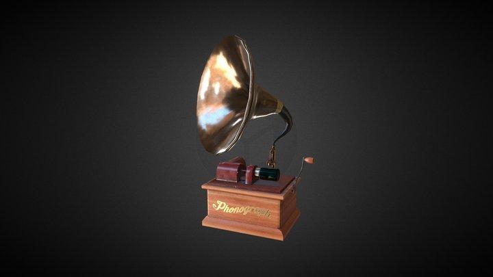 Vintage Edison Phonograph 3D Model