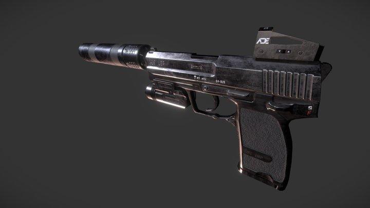 Heckler & Koch USP45 Tactical 3D Model