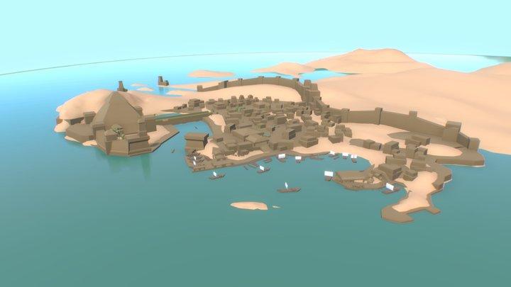 Desert City 3D Model