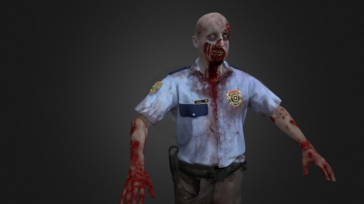 Zombie _ Police Officer RE2 3D Model