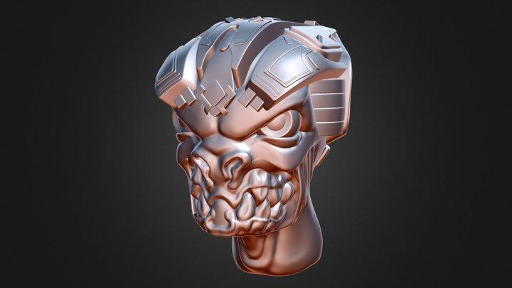 Alien with a Helmet 3D Model