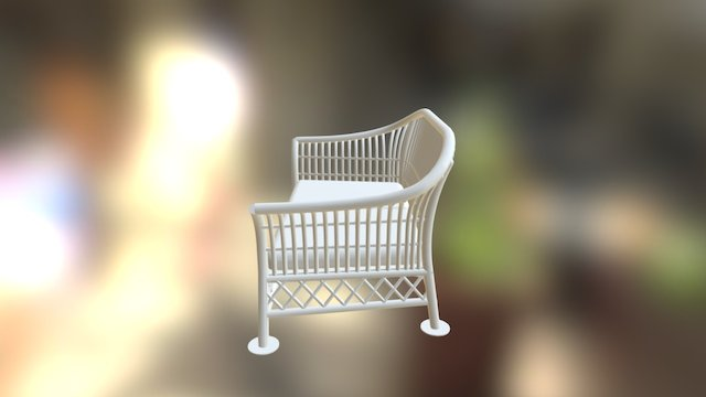 Wicker Sofa 3D Model