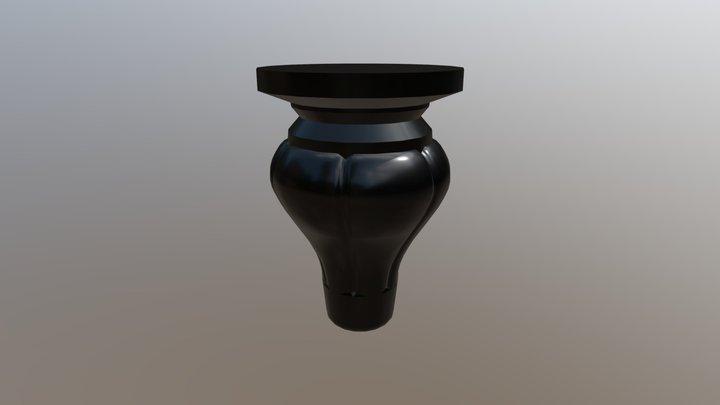 Black Table Leg 3D Model