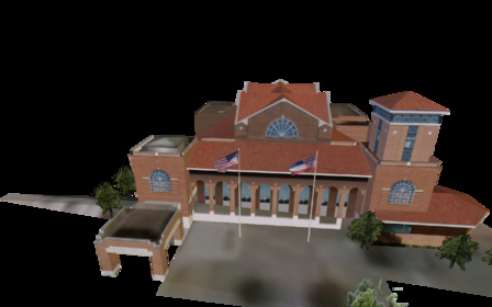 Library of Hattiesburg, Petal, and Forrest Count 3D Model