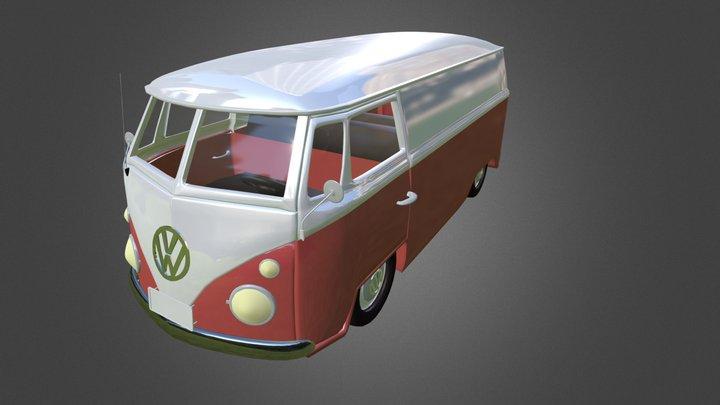 Volkswaggen Van 3D Model