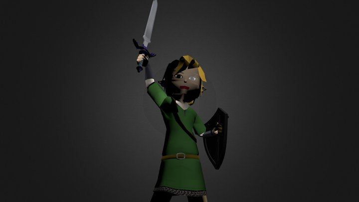 Chibi Skyword Sword Link 3D Model