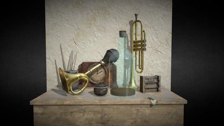 Antique trinkets 3D Model