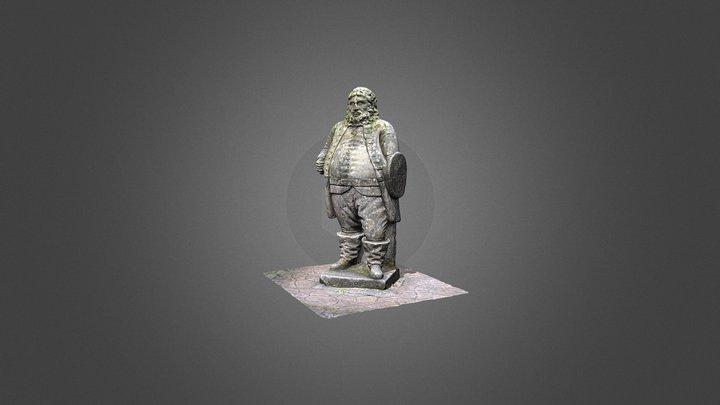 ACCORD Project: Castlemilk Falstaff Sculpture 3D Model