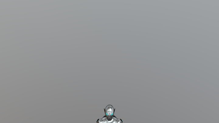 Robot Android Character 3D Model
