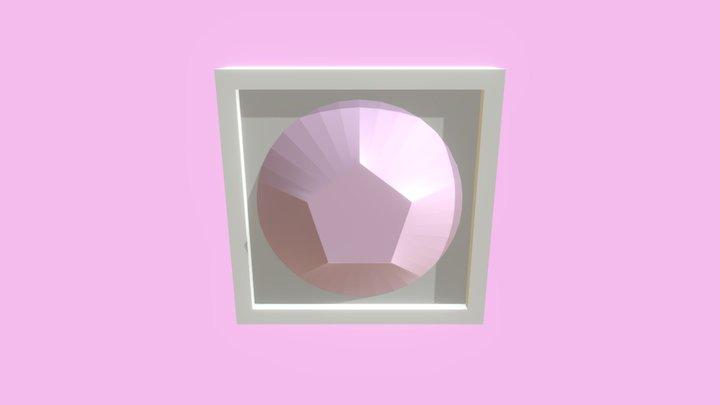 Rose Quartz in a Frame 3D Model