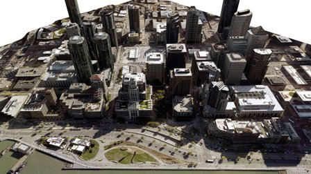 Silver - Portion of San Francisco 3D Model