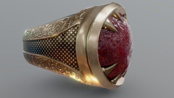 Worn Enchanted Ring 3D Model