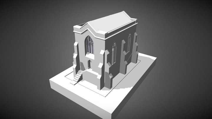 Cemetery Chapel and Charnel House 3D Model