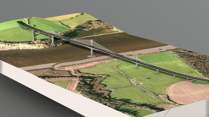 River-Barrow-Bridge-3D 3D Model