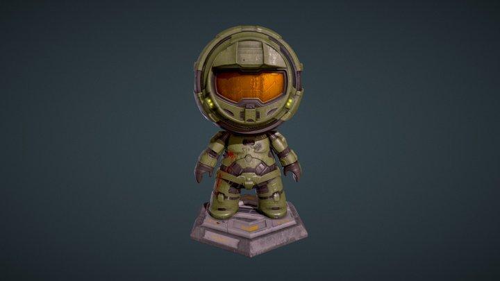 Meet Mat 2 submission Master Chief fan art 3D Model