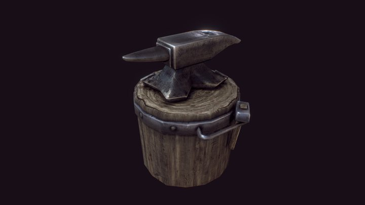 Legacy Works - Blacksmith Anvil 3D Model