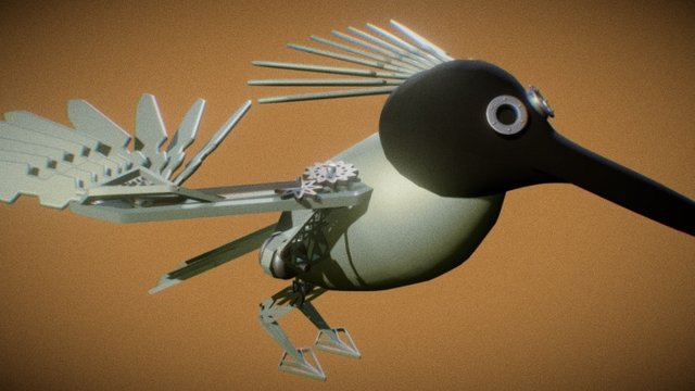 Mechanical Bird 3D Model