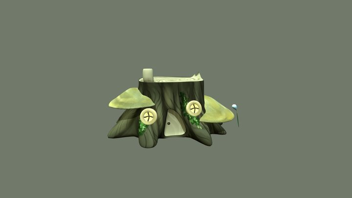 Compulsory 03 Stump and plant 3D Model