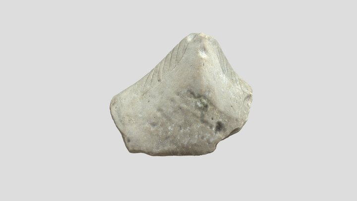 """Stone Zemi with """"feathered"""" markings 3D Model"""