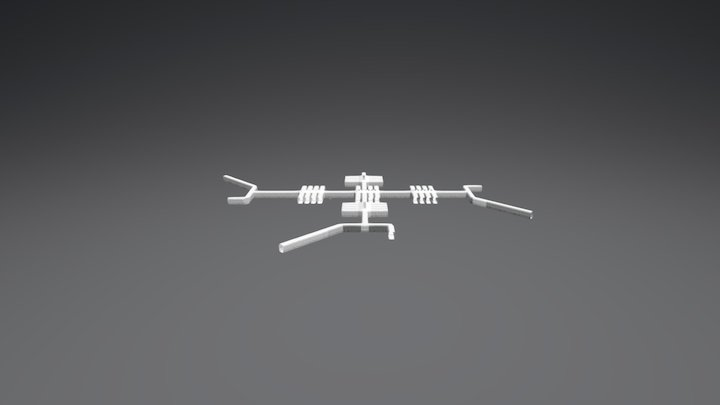 Space Station Layout 3D Model
