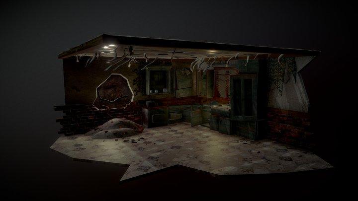 Day 4. Abandoned kitchen 3D Model