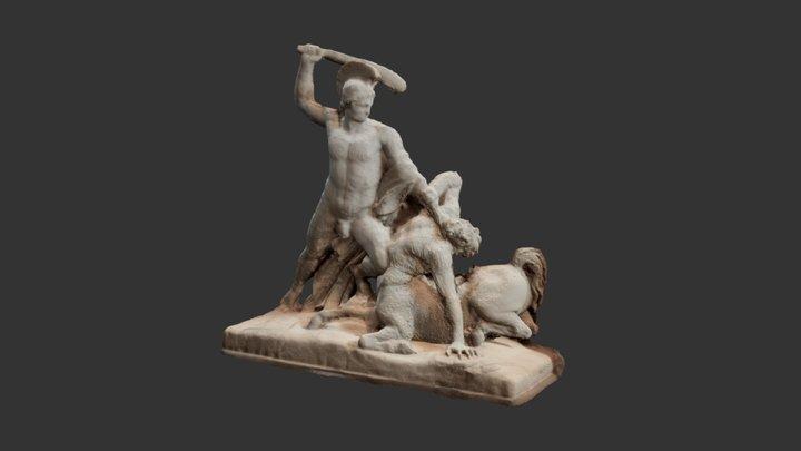 Theseus defeats the Centaur 3D Model