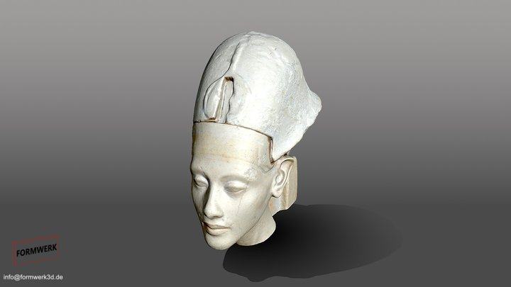 Echnaton/Krone - Museum August Kestner - 3D Scan 3D Model