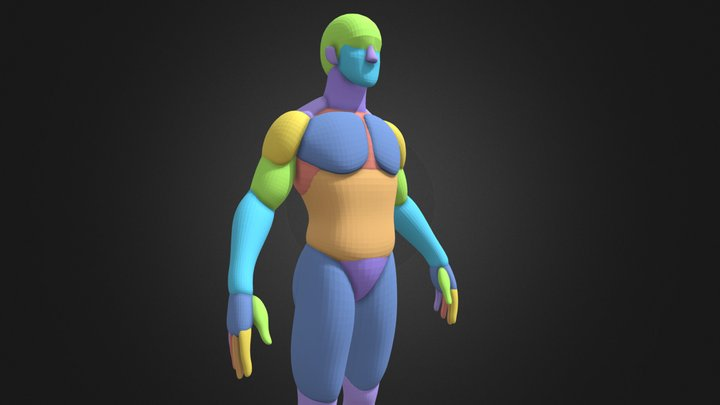 🧍♂️ Male BASE MESH !!! 3D Model