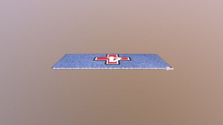 Empty Flattened Medic Bag 3D Model