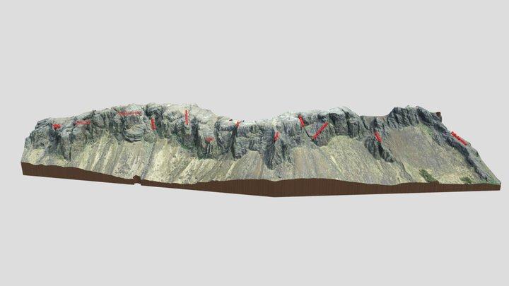 Búahamrar Summer - Overview 3D Model