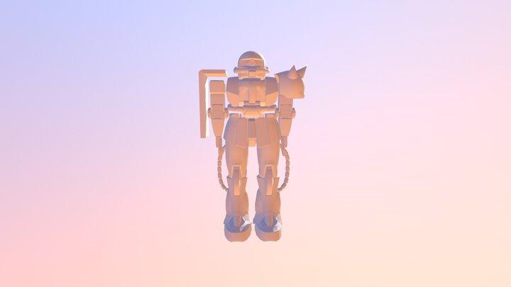 Zaku-II 3D Model