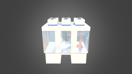 MCRT aktive Minienvironments 3D Model
