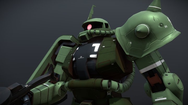 MS-06F2 Zaku II 3D Model
