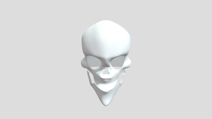 Cartoon Skull 3D Model