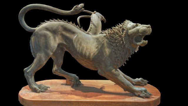The Chimera of Arezzo 3D Model