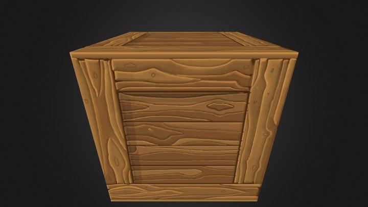 WIP - Handpainted Crate  3D Model