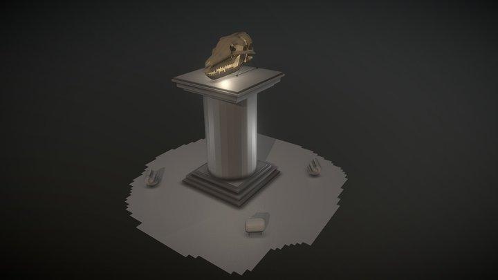 Lobo Crânio 3D Model