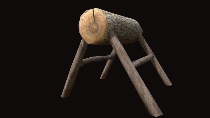 Log Workbench Asset 3D Model