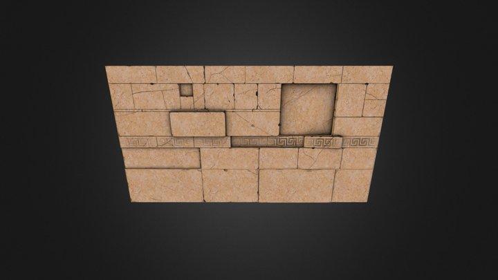 Ancient greek wall piece 3D Model