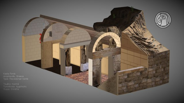 Amphipolis Tomb by Greektoys.org 3D Model