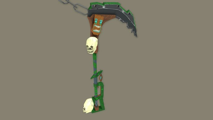 Chainsickle Weapon Craft 3D Model