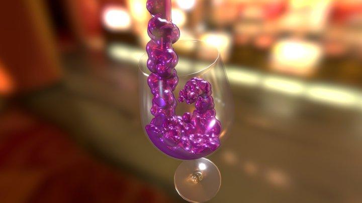 Wine Glass WIP 3D Model