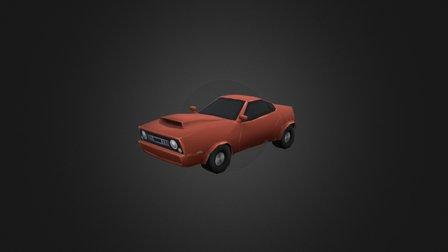 Low Poly Car + Texture 01 3D Model
