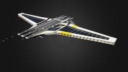 3km Flying Carrier 3D Model