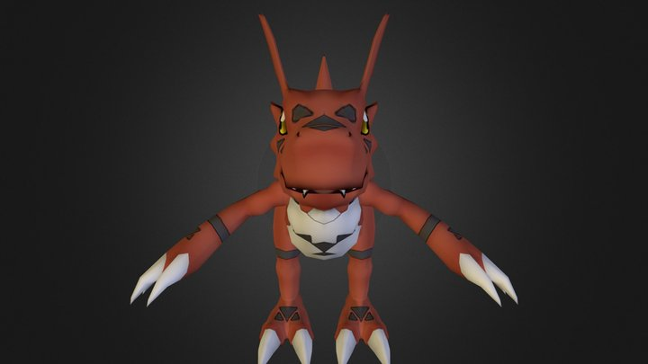 PC Computer - Digimon Masters - Guilmon 3D Model