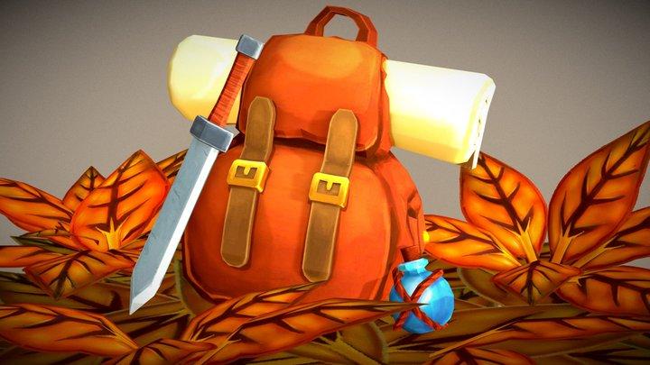 Adventurer backpack 3D Model