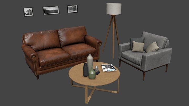 Furniture set 3D Model