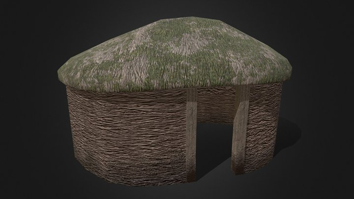 Viking Hut Type 5 - Linn Duachaill 3D Model