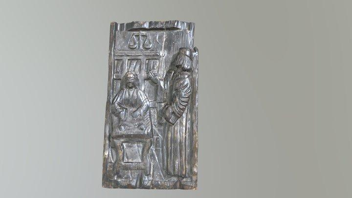 Carved Oak Panel 3D Model