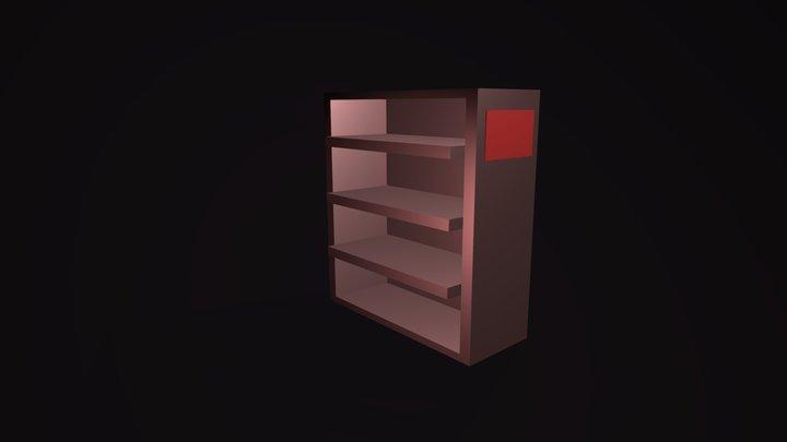 Empty bookshelf no.1 3D Model